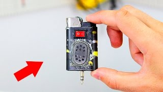 How to make a mini speaker from a lighter