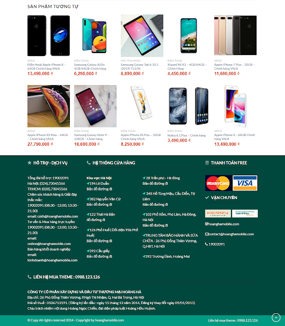 Full code theme wordpress Hoàng hà Mobile , theme hoanghamobile , full code shop worpress