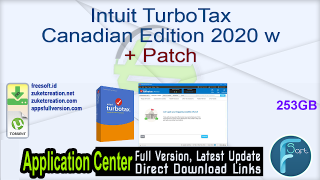 Intuit TurboTax Canadian Edition 2020 w + Patch