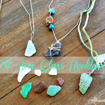 DIY Sea Glass Necklaces On The Tenth