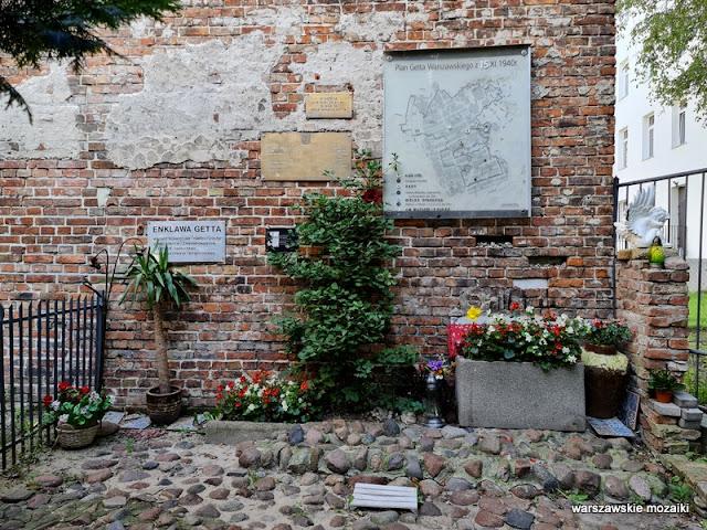 getto mur getta ściana pamiątka II wojny światowej Warszawa Warsaw Wola czerwona cegła