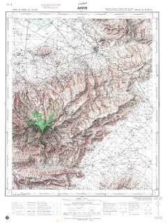 Ahfir Morocco 50000 (50k) Topographic map free download