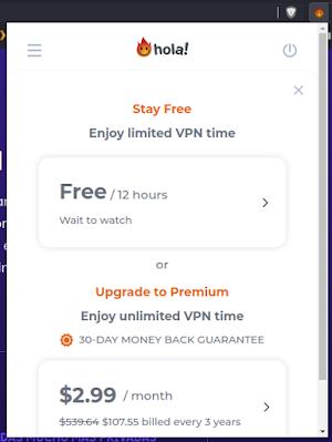 Hola VPN Funcionalidad en Navegador Web