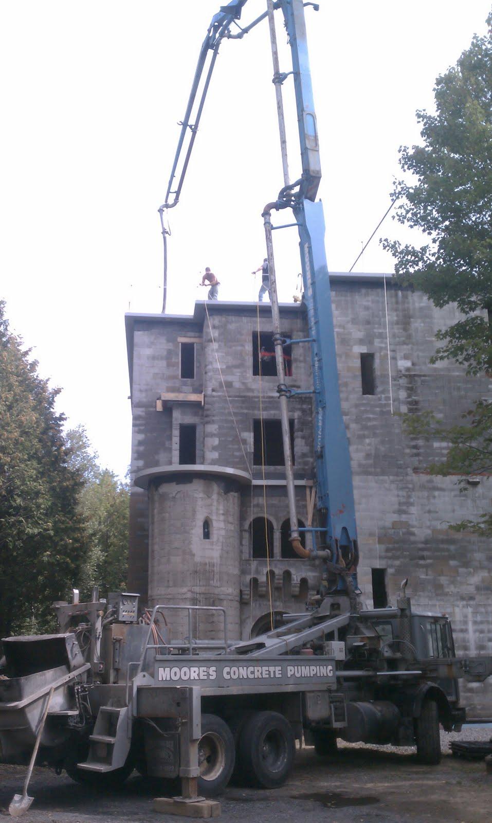 Building An Adirondack Castle Roof Top Concrete Pour