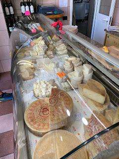 Latteria Sociale di Valtorta - selection of cheeses.