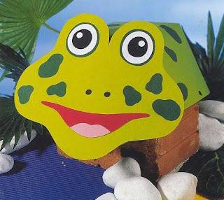 Visera sombrero    de rana con moldes para descargar