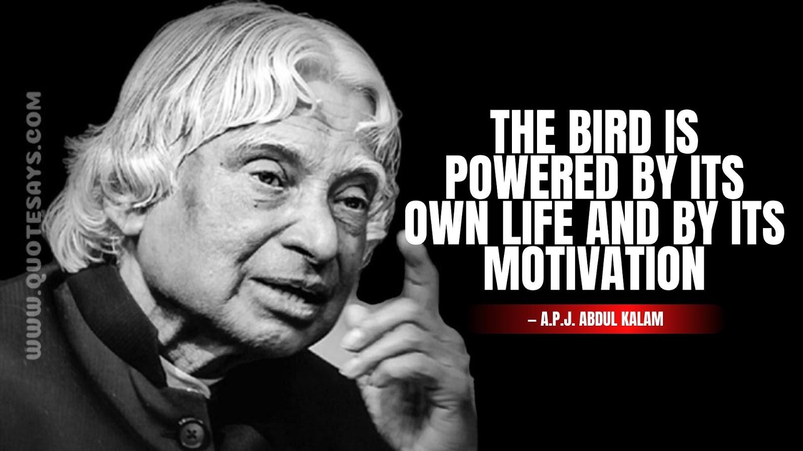Abdul Kalam Quotes About Bird, Apj Abdul Kalam Quotes