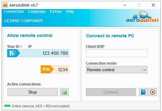AeroAdmin, برنامج, الوصول, الى, سطح, مكتب, بعيد, والتحكم, فى, الكمبيوتر, عن, بُعد