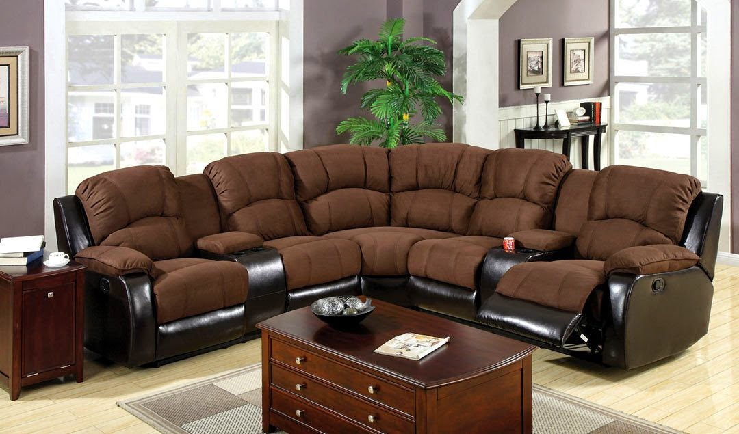 3 pc Keystone contemporary Microfiber Recliner Sectional Sofa Couch Chaise : sectional couch with recliner and chaise - Sectionals, Sofas & Couches