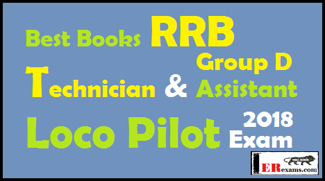 Best Books RRB Technician and Assistant Loco Pilot Group D Exam 2018