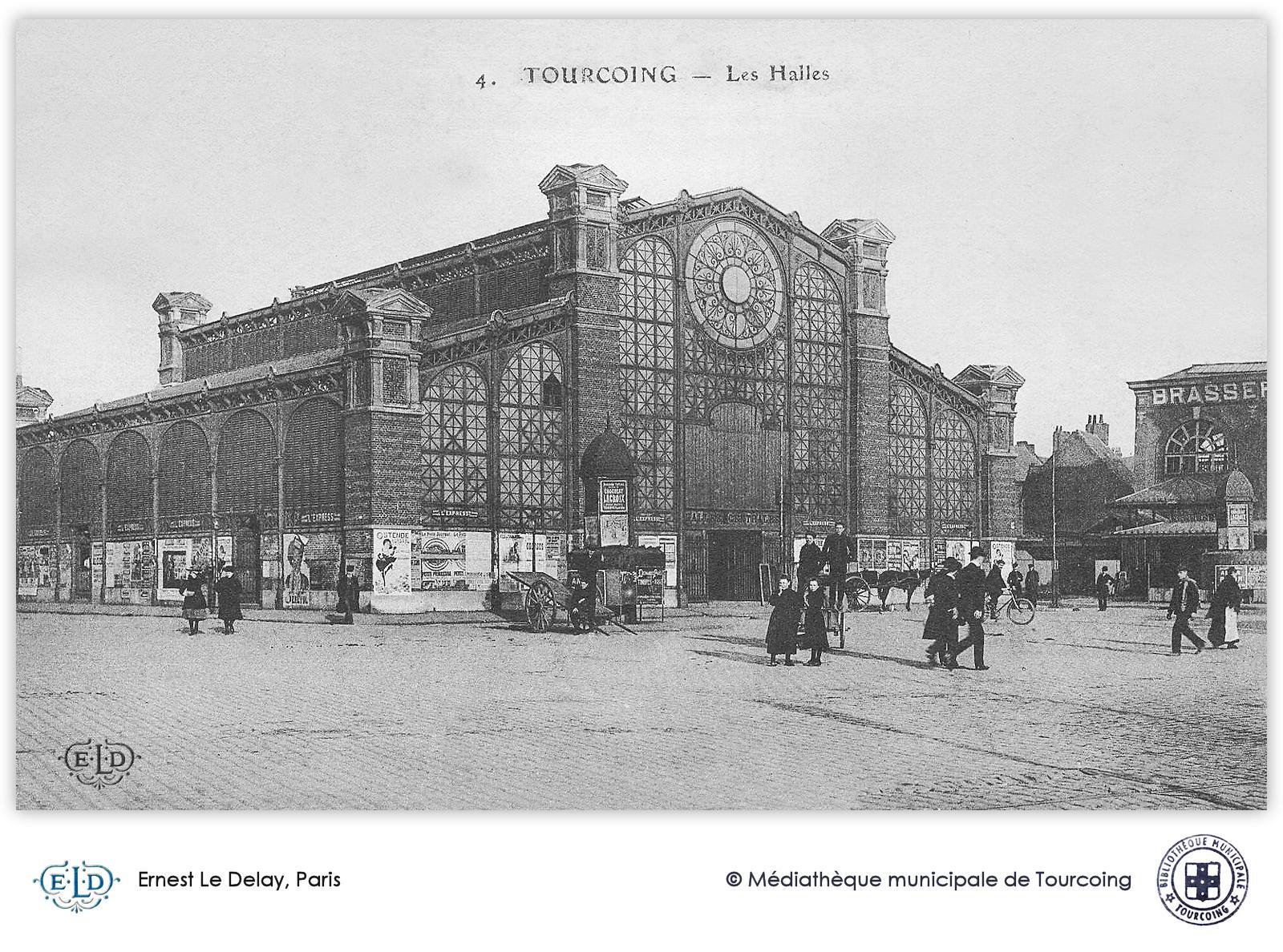 Carte Postale Ancienne de Tourcoing - ELD, Paris, Les Halles
