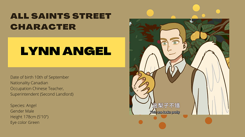 All Saints Street Character: Lynn Angel