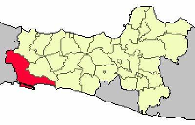 Gambar Letak kabupaten cilacap pada peta buta Jawa Tengah