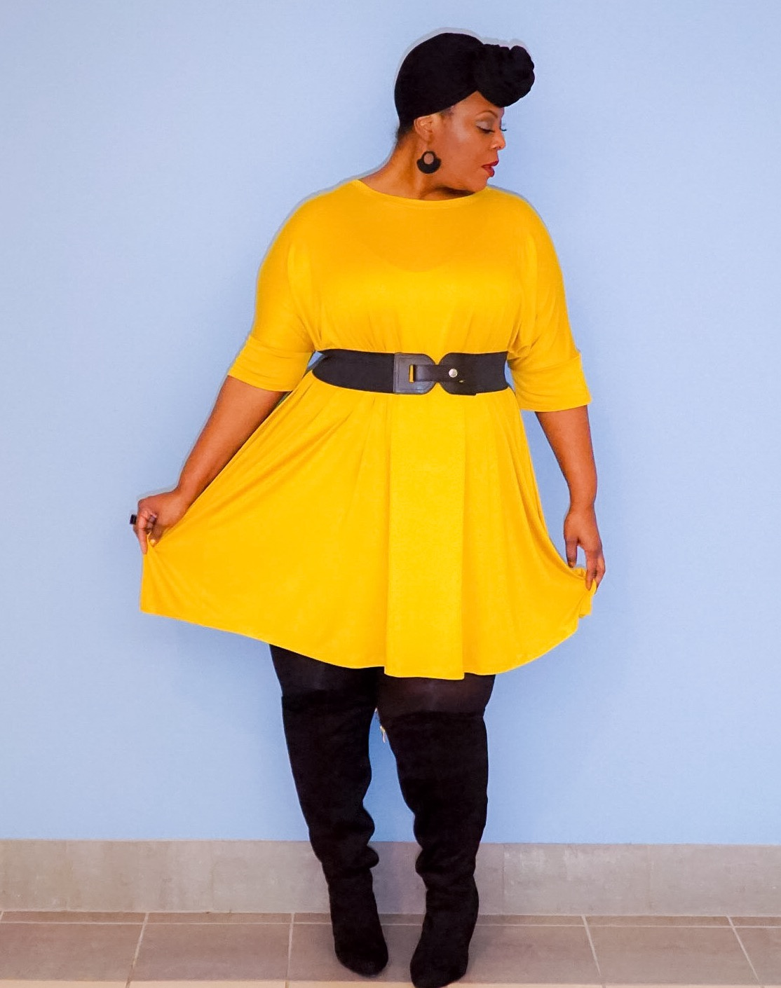 asos yellow dress, asos tshirt dress, plus size yellow dress,