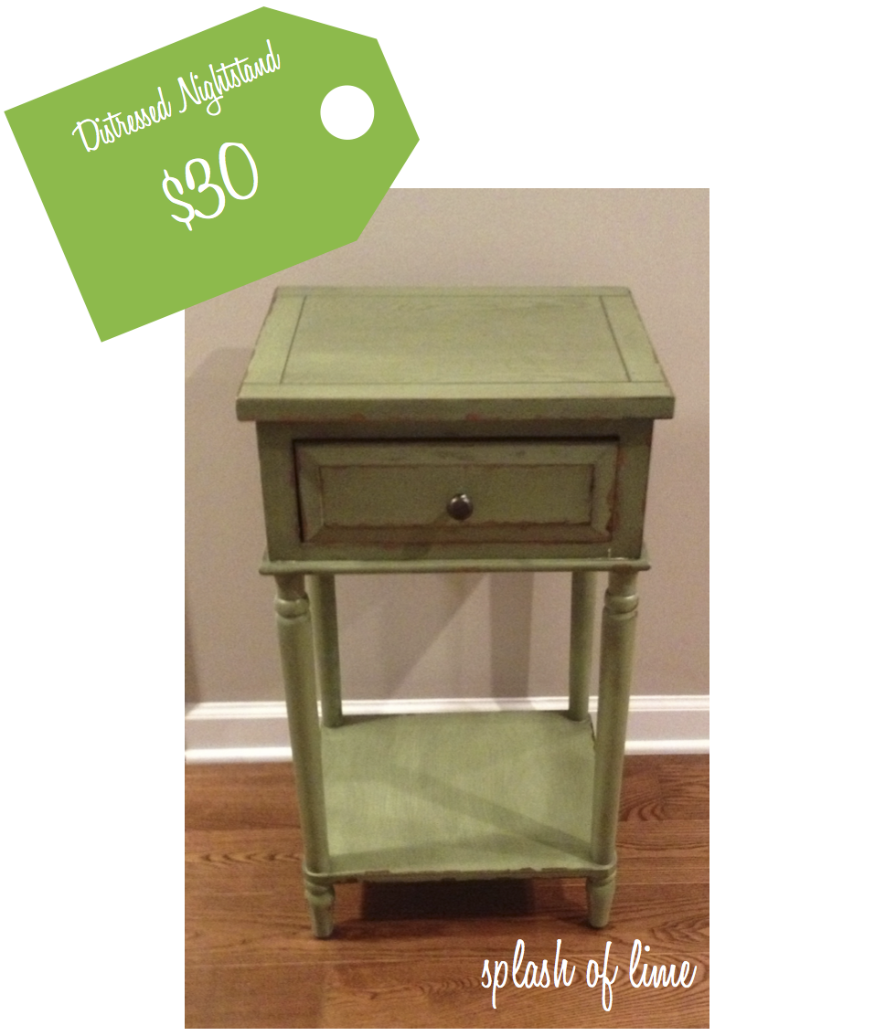 Splash of Lime: high/low: cottage nightstand