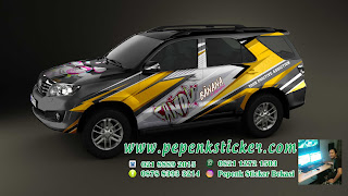Decal printing fortuner