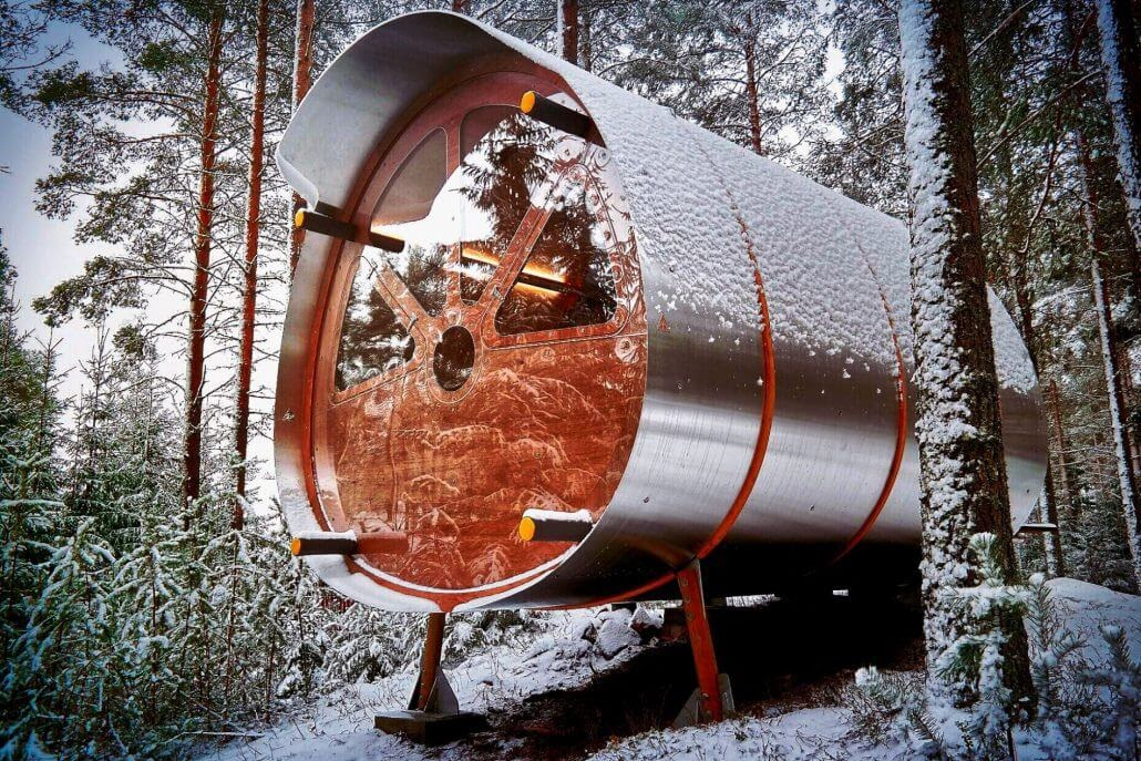 01-In-the-snow-Tree-Tents-The-Fuselage-Glamping-in-Nature-www-designstack-co
