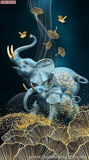 Tranh nghệ thuật động vật Voi