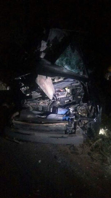 Photos from the fatal accident that claimed the life of sexy Ghanaian dancehall artist, Ebony Reigns