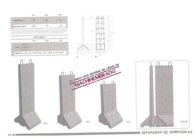 catálogo separadores prefabricados de hormigón