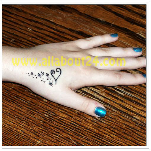 Demilina Girls Hand Tattoos