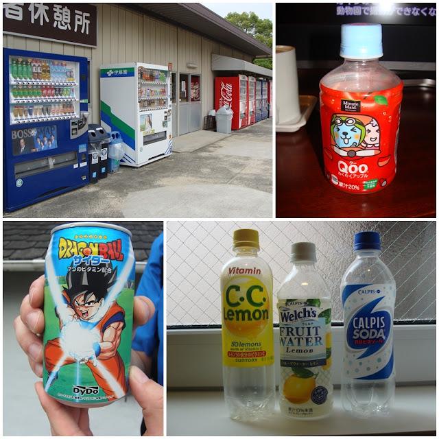 japanische Getränkeautomaten, Qoo Saft, Dragonball Z Energydrink, Calpis, Welch's Fruit Water, C.C. Lemon