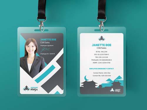 25 Contoh Desain Id Card Keren Untuk Inspirasi Grafis Media