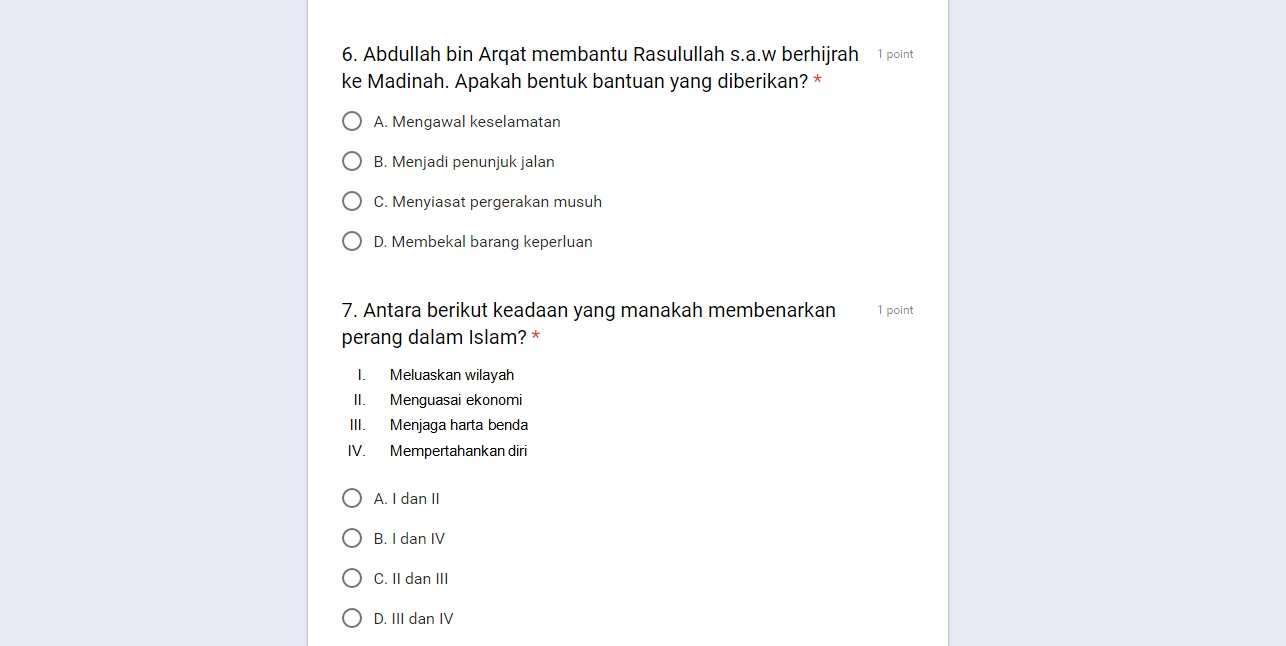 Google Form Jawab Online 10 Set Soalan Sejarah Spm Kertas 1