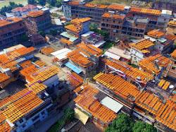 Heboh! Atap Rumah di Desa Ini Berubah menjadi Oranye