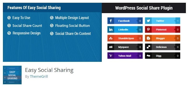 Easy Social Share plugins by wordpress