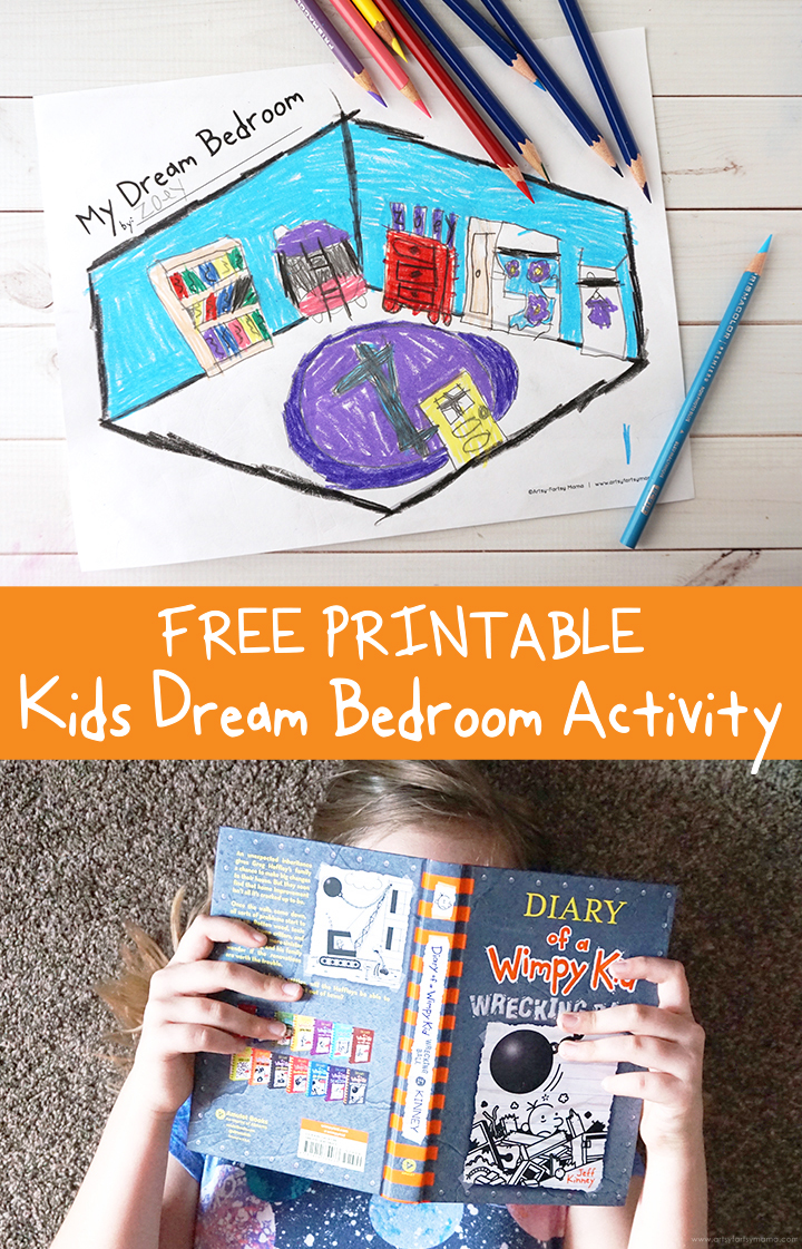 Free Printable Kids Dream Bedroom Activity Inspired by Diary of a Wimpy Kid: Wrecking Ball