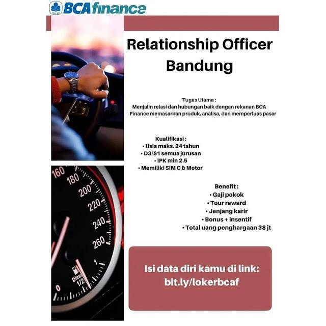 Info Loker BCA Finance Bandung