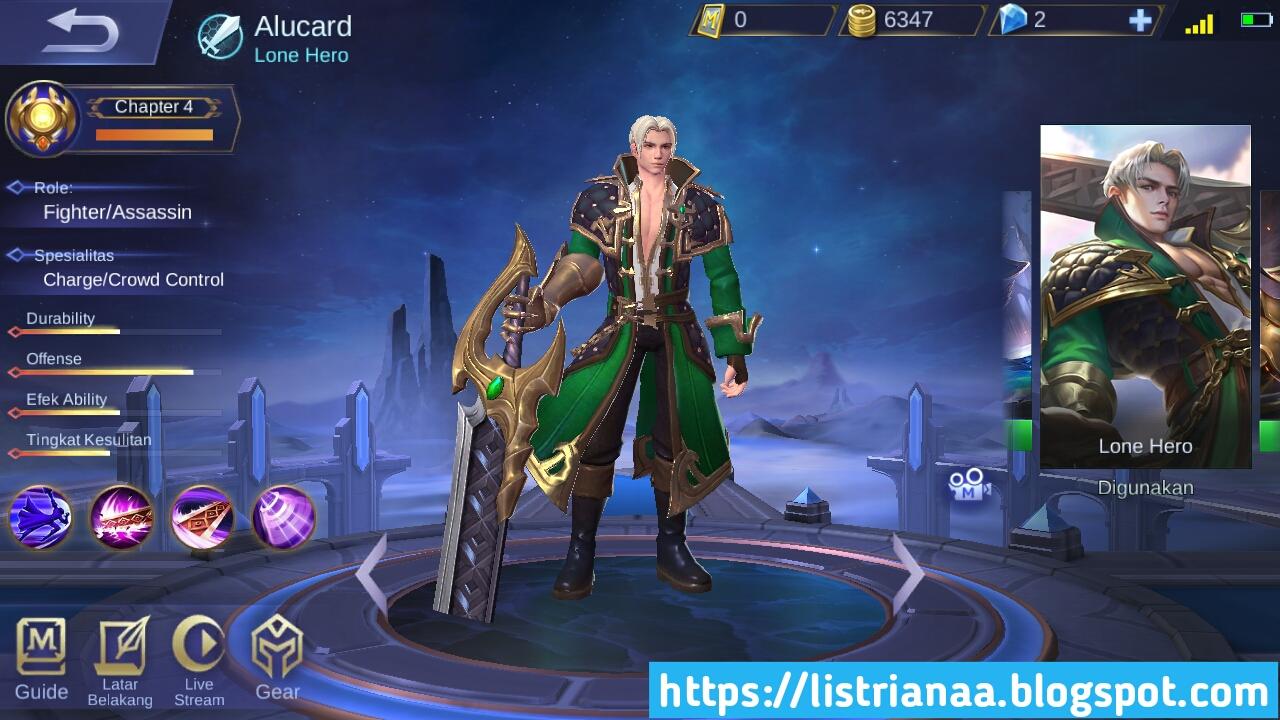 Sekarang Skin Alucard Tidak 8 Bit Lagi Sudah HD Mobile Legends 2