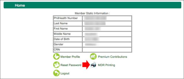 PhilHealth member information
