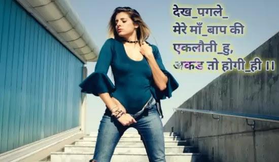 Girlish Attitude Status In Hindi, Cute Girl Status In Hindi 2 Line