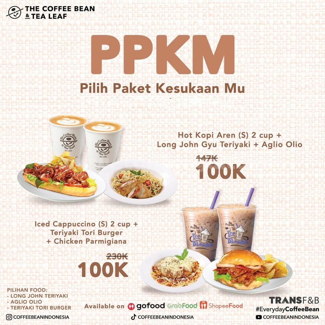 Coffee Bean Promo PPKM (Pilih Paket Kesukaan Mu)