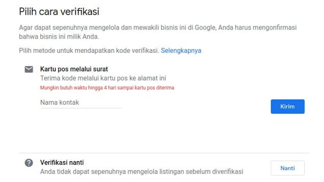 Begini Caranya, Bila Kode PIN Verifikasi Google Bisnisku Tidak Terkirim via POS