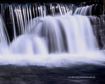 A long exposure photograph of Natural Dam and a blurb about laughter and it's anti aging effects.