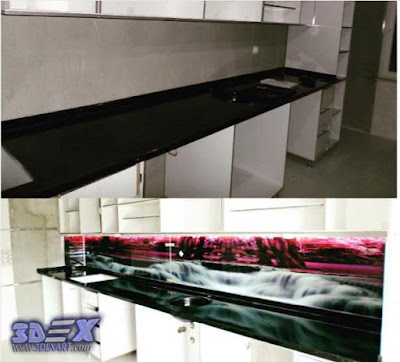 3d panel, 3d glass panel, 3d backsplash, 3d kitchen backsplash, 3d backsplash panel