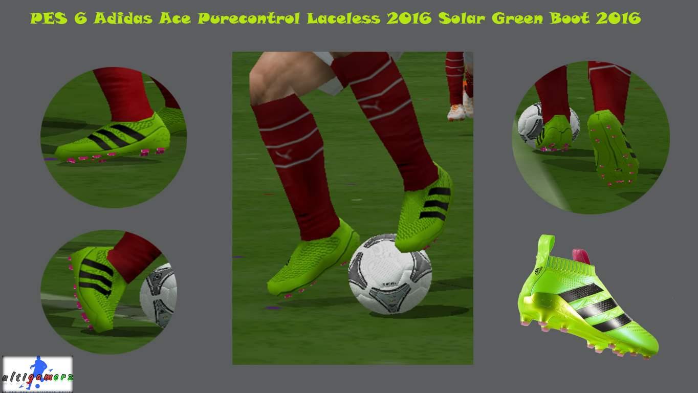 73f52aafa9f Yükle (1364x768)ultigamerz  PES 6 Adidas Ace Purecontrol Laceless Solar  Green 2016 BootPES 6 Adidas Ace Purecontrol Laceless Solar Green 2016 Boot.  ...