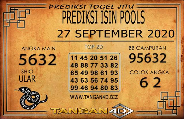 PREDIKSI TOGEL ISIN TANGAN4D 27 SEPTEMBER 2020