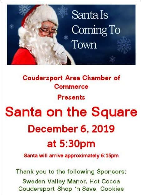 12-6 Santa on the Square, Coudersport, PA