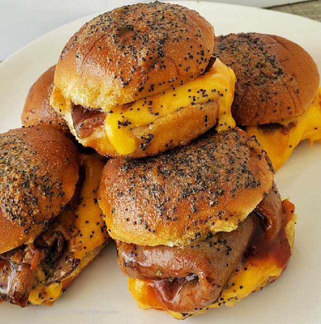 these are beef and cheese Arby's sandwiches