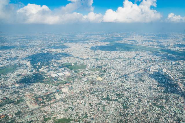オフショア開発拠点の上空写真