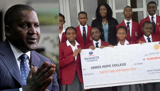 I want to be Africa's biggest philanthropist – Dangote