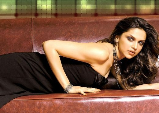 Bollywood Actress Deepika Padukone Photoshoot In Black Dress