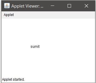 Applet output