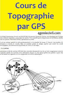 cours gps topographie pdf, cours gps topographie, cours de topographie gps,