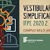 IFPE Belo Jardim divulga resultado final do Vestibular Simplificado 2020.2