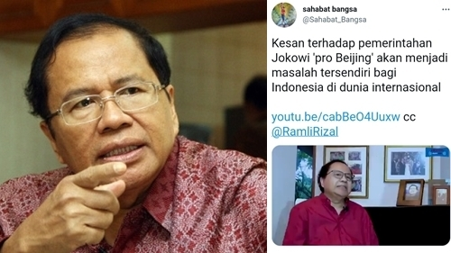 Tuding Pemerintah Pro Beijing, Rizal Ramli: Jokowi Sudah Terpengaruh China